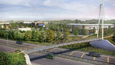 Rushden Lakes footbridge