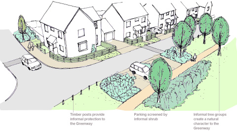 Visual of Hatch Farm residential development