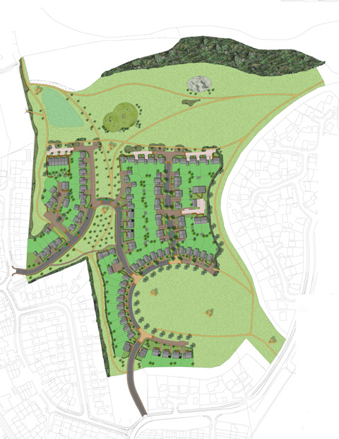 Masterplan for Hatch Farm residential development